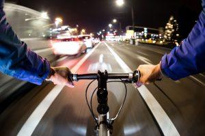 E-Bike bei Nachtfahrt